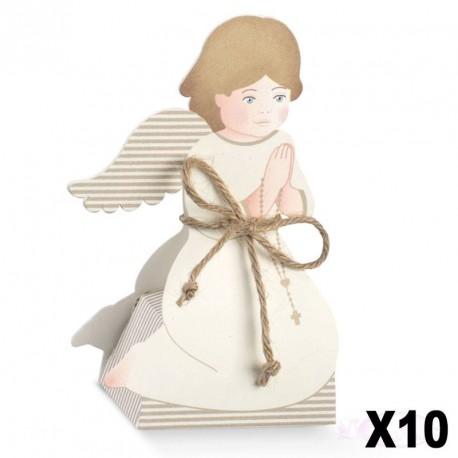 """10 Boites à dragées Communion """"Prière"""""""