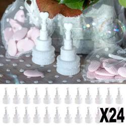 "24 ""Bulle à savon"" gâteau de mariage"