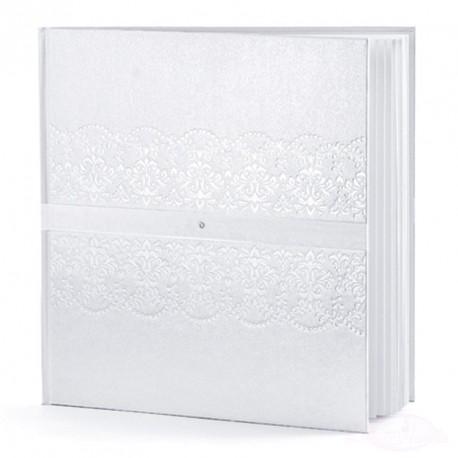 Livre d'or Mariage Blanc avec Strass