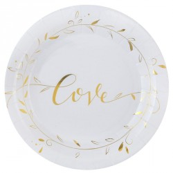 "10 assiettes Love ""Just Married"""