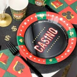 10 Assiettes thème casino