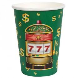 10 gobelets thème casino