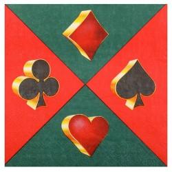 20 serviettes jetable thème casino