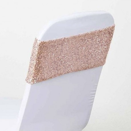 5 Noeuds de Chaise Sequin Rose Gold
