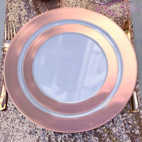Petites assiettes Rose Gold pour dessert ou entrée