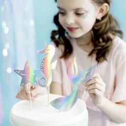 3 Décors pour gâteau thème siréne