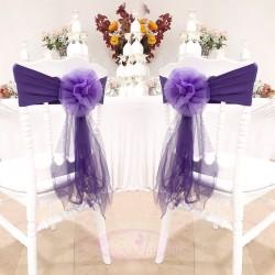 10 Noeuds de chaise en fleur Violet