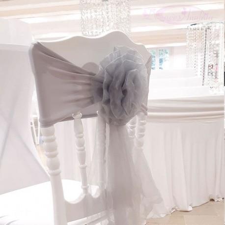 10 Noeuds de chaise en fleur grise