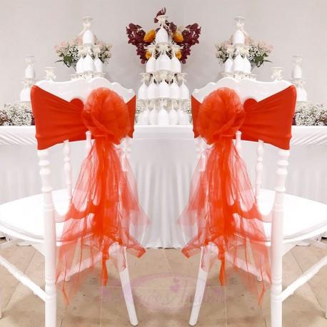 10 Noeuds de chaise en fleur Rouge