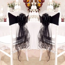 10 Noeuds de chaise en fleur Noir