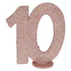 Chiffre Anniversaire 10 ans Rose Gold