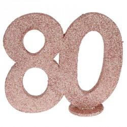 Chiffre Anniversaire 80 ans Rose Gold