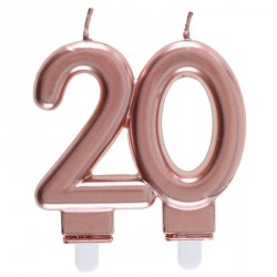 Bougie 20 ans Rose Gold