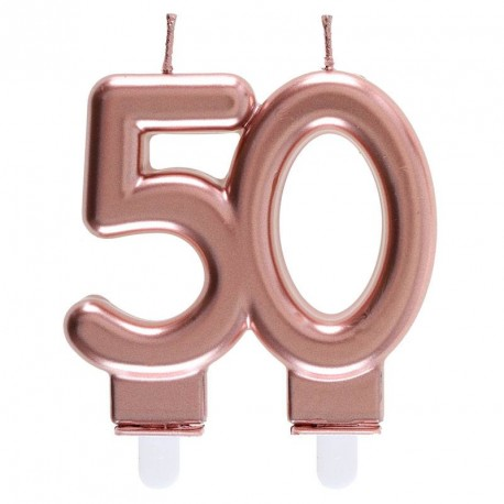 Bougie 50 ans Rose Gold