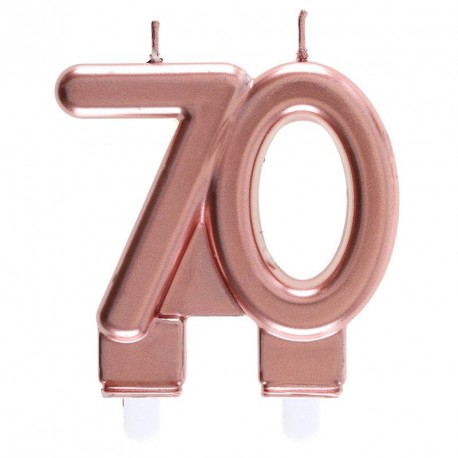 Bougie 70 ans Rose Gold