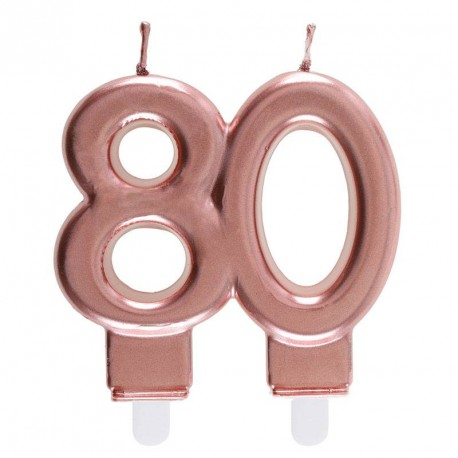 Bougie 80 ans Rose Gold