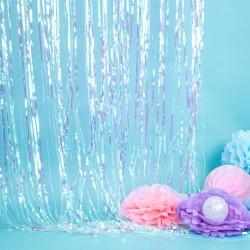 Rideau à franges iridescent 90 x 250cm
