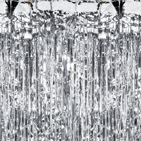 Rideau à franges Argent 90 x 250cm