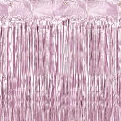 Rideau à franges Lilas 90 x 250cm