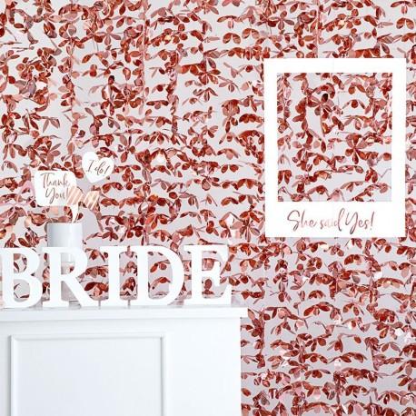 Rideau à Fleur Rose Gold 100 x 210cm