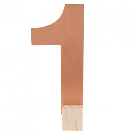 Marque table Rose Gold chiffre 1