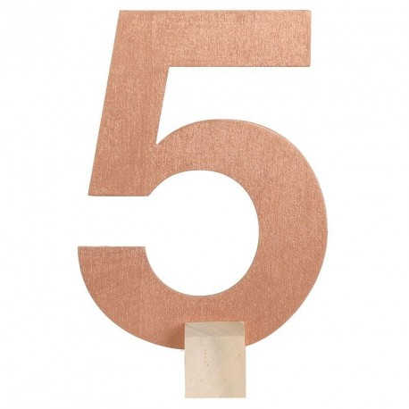 Marque table Rose Gold chiffre 5