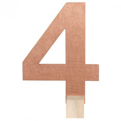 Marque table Rose Gold chiffre 4
