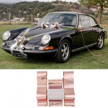 Kit mariage Rose Gold pour voiture