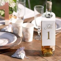 10 Marque table bouteille de 1 à 10
