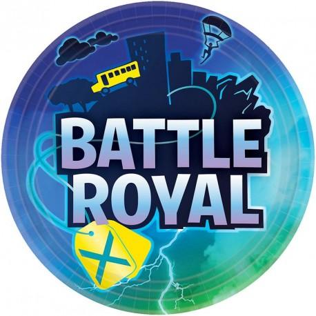 8 Assiettes Fornite Battle Royal 23 cm