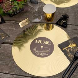 6 Sets de table musique Disque d'or