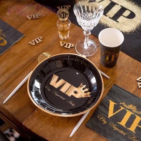 10 Assiettes VIP couronné