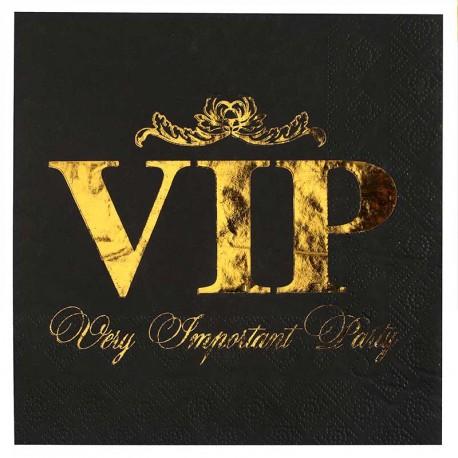 Serviette VIP pour anniversaire thème VIP