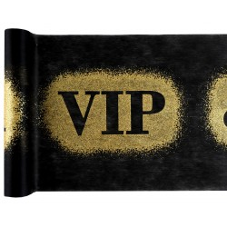 Chemin de table VIP Noir et Or