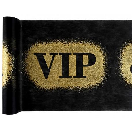 Chemin de table VIP Noir et Or