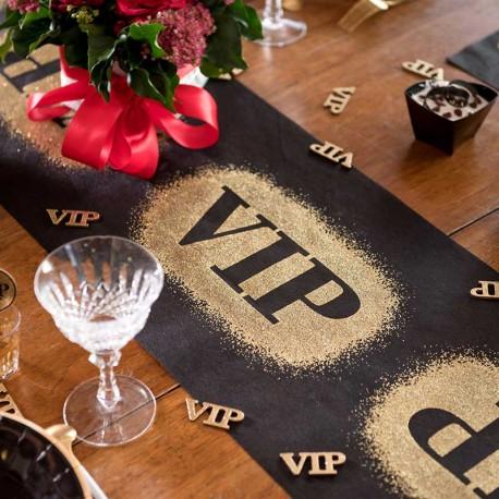 Décorez avec ce chemin de table VIp vos table d'anniversaire VIP