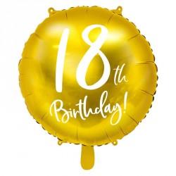 "Ballon rond Anniversaire ""18th Birthday"" 45cm"