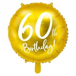 "Ballon rond Anniversaire ""60th Birthday"" 45cm"