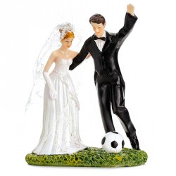 Figurine Football pour gateau de mariage ou piece montée