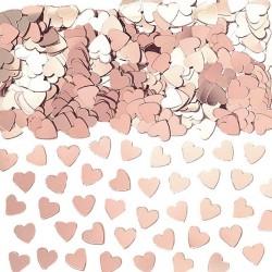 Confettis coeur Rose Gold pour bien décorer ses tables de mariage rose gold