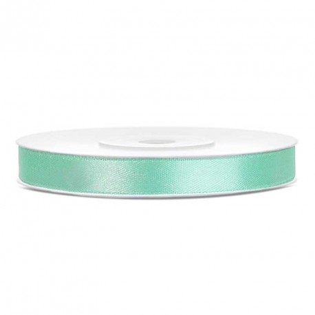 Ruban satin mint 6mm par 25 mètres
