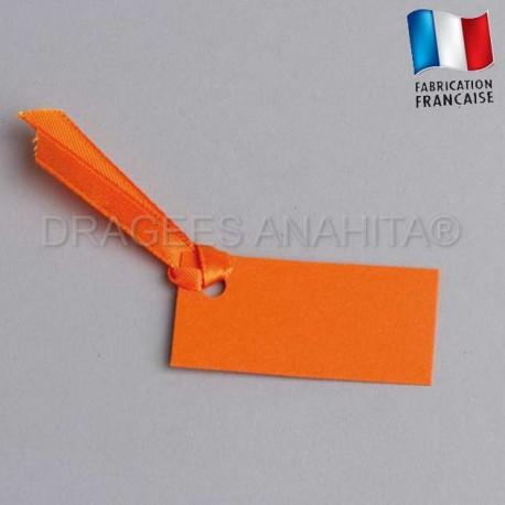 Etiquette à dragées rectangle de couleur