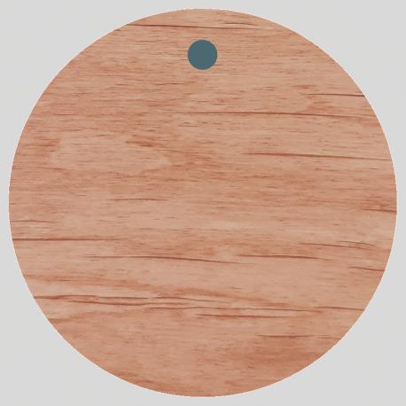 10 étiquettes Rondes en Bois personnalisées