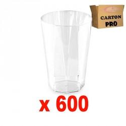 600 VERRES OCTOGONAL 25 CL
