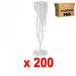200 FLÛTES À CHAMPAGNE MONOBLOC