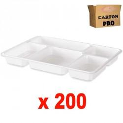 200 PLATEAUX REPAS 5 COMPARTIMENTS
