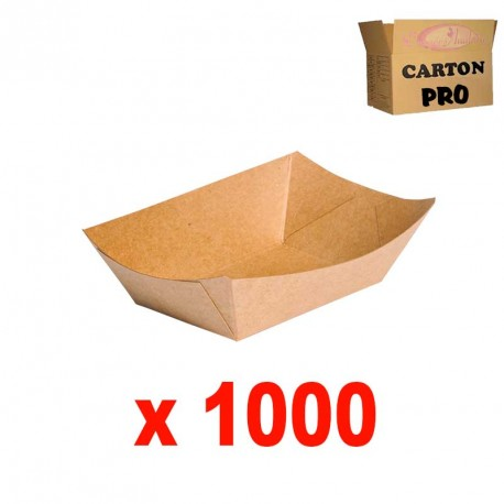 1000 BARQUETTES RECTANGULAIRE KRAFT 10 OZ