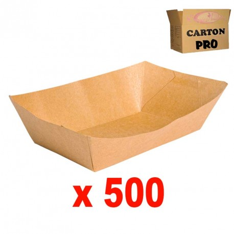 500 BARQUETTES RECTANGULAIRE KRAFT 32 OZ