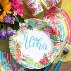10 Assiettes thème tropical