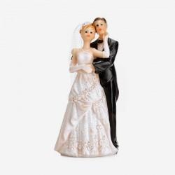 Figurine pour Mariage Robe à fleur